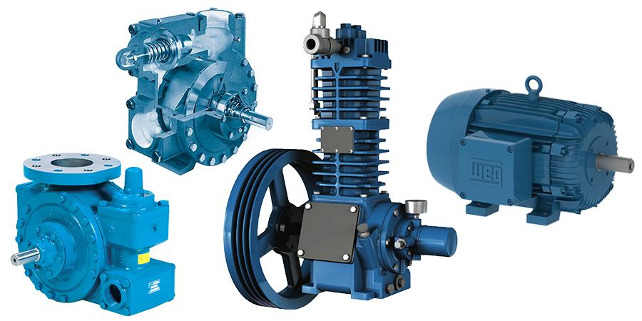 Pompes, compresseurs et moteurs